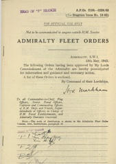 Admiralty Fleet Orders 1943 - 2104-2224