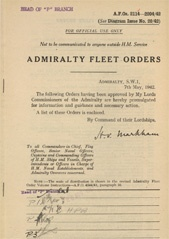 Admiralty Fleet Orders 1942 - 2114-2204