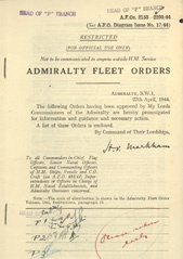 Admiralty Fleet Orders 1944 - 2153-2293
