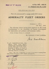 Admiralty Fleet Orders 1942 - 2205-2338