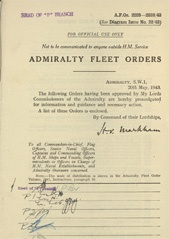 Admiralty Fleet Orders 1943 - 2225-2338
