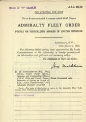 Admiralty Fleet Orders 1943 - 231