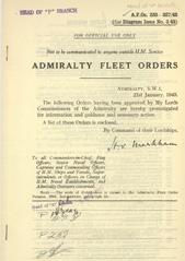 Admiralty Fleet Orders 1943 - 233-327