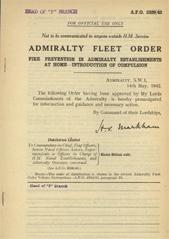 Admiralty Fleet Orders 1942 - 2339
