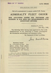 Admiralty Fleet Orders 1943 - 2339