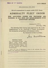 Admiralty Fleet Orders 1943 - 2339