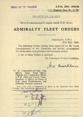 Admiralty Fleet Orders 1943 - 2340-2459