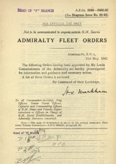 Admiralty Fleet Orders 1942 - 2340-2462