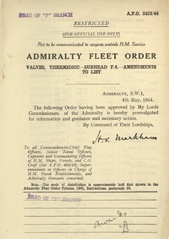 Admiralty Fleet Orders 1944 - 2423