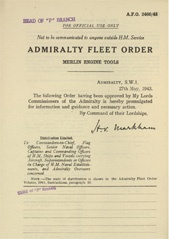 Admiralty Fleet Orders 1943 - 2460