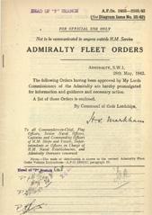 Admiralty Fleet Orders 1942 - 2463-2585