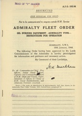 Admiralty Fleet Orders 1944 - 250