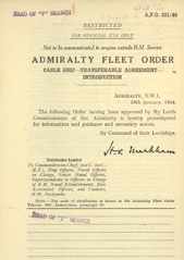 Admiralty Fleet Orders 1944 - 251