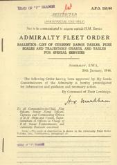 Admiralty Fleet Orders 1944 - 252