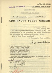Admiralty Fleet Orders 1944 - 253-376