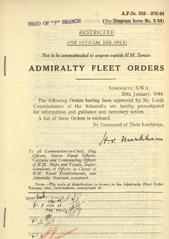 Admiralty Fleet Orders 1944 - 253-376
