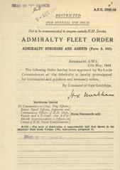 Admiralty Fleet Orders 1944 - 2549