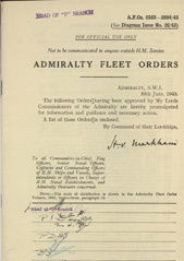 Admiralty Fleet Orders 1943 - 2583-2694