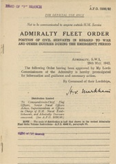 Admiralty Fleet Orders 1942 - 2586