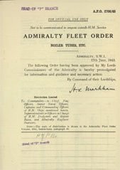 Admiralty Fleet Orders 1943 - 2700