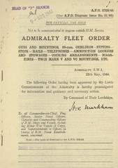 Admiralty Fleet Orders 1944 - 2705
