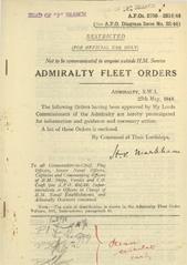 Admiralty Fleet Orders 1944 - 2706-2814