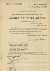 Admiralty Fleet Orders 1942 - 2720-2831