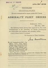 Admiralty Fleet Orders 1944 - 2815-2817
