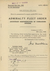 Admiralty Fleet Orders 1942 - 2832