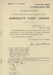 Admiralty Fleet Orders 1942 - 2833-2954