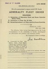 Admiralty Fleet Orders 1943 - 2919