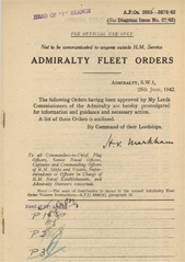 Admiralty Fleet Orders 1942 - 2955-3070