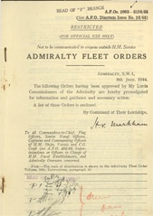 Admiralty Fleet Orders 1944 - 2963-3104