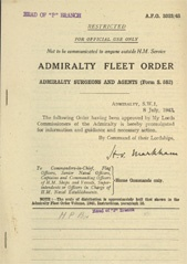 Admiralty Fleet Orders 1943 - 3023