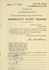 Admiralty Fleet Orders 1943 - 3024-3121