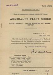 Admiralty Fleet Orders 1942 - 3071