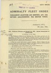 Admiralty Fleet Orders 1944 - 3105