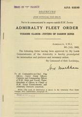 Admiralty Fleet Orders 1943 - 3122