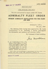 Admiralty Fleet Orders 1943 - 3124