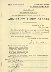 Admiralty Fleet Orders 1943 - 3125-3241