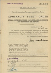Admiralty Fleet Orders 1942 - 3193