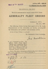 Admiralty Fleet Orders 1942 - 3194-3333