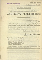 Admiralty Fleet Orders 1942 - 321-413