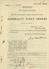 Admiralty Fleet Orders 1944 - 3248-3249