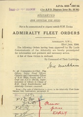 Admiralty Fleet Orders 1944 - 3250-3367