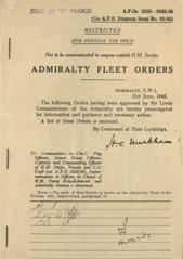 Admiralty Fleet Orders 1945 - 3282-3433