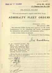 Admiralty Fleet Orders 1943 - 331-437