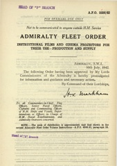 Admiralty Fleet Orders 1942 - 3334
