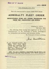 Admiralty Fleet Orders 1942 - 3334