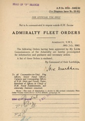Admiralty Fleet Orders 1942 - 3335-3469